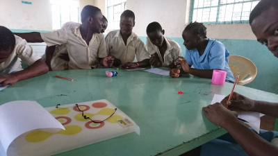 Teaching drawing in children's prison